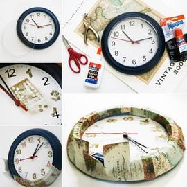 IKEA,DIY,時計,地図